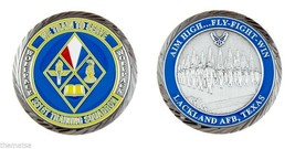 "LACKLAND AIR FORCE BASE  WOLFPACK 331ST TRAINING SQUADRON 1.75"" CHALLENG... - $16.24"