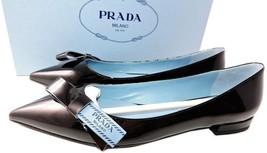 0aa831f541e Prada Logo Bow Flats Loafer 36.5 Black Ballerina Ballet Pointed Toe Shoes -   389.00