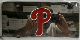 Fanmats MLB Philadelphia Phillies Chromed Steel Diecast Emblem Front Lic. Plate - $24.74
