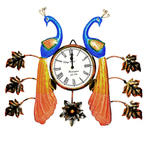 Decorative Wall Clock/Living Room of Two Peacock Wall Clock with Leaf - €85,95 EUR