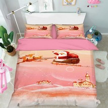 3D Flying Santa Bed Pillowcases Quilt Duvet Cover Set Single Queen King Size AU - $64.32+
