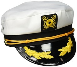 Boat Captain Hat Sailor Admiral Classic Cap Ship Yacht Navy Marines Whit... - €7,09 EUR