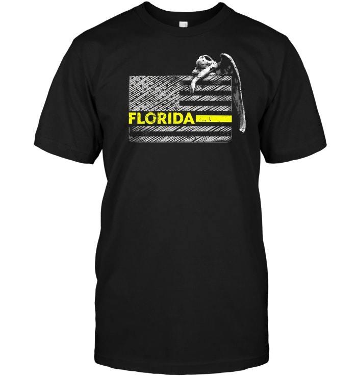 Florida Police Dispatcher Flag Gifts Shirt - $17.99