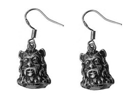 Cowardly Lion WIZARD OF OZ Real Solid Sterling Silver 925 Earrings Jewel... - $48.15