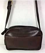 Coach Vintage Small Dark Brown Leather Shoulder Bag Made In New York Cit... - $39.76