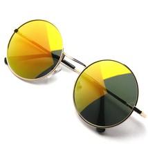 Premium Metal Redondo Reflectante Completo Espejo Círculo Gafas de Sol - $11.46