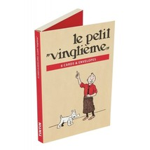 Tintin and Le Petit Vingtieme set of 6 postcards and envelopes  image 2