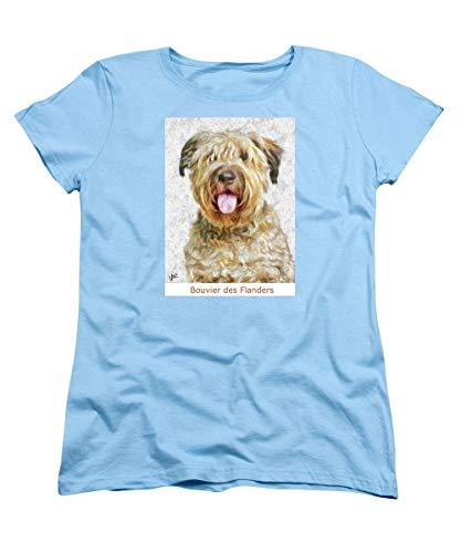 Primary image for Pieter - Bouvier Des Flanders - Women's T-Shirt (Standard Fit) - Light Blue / 2X