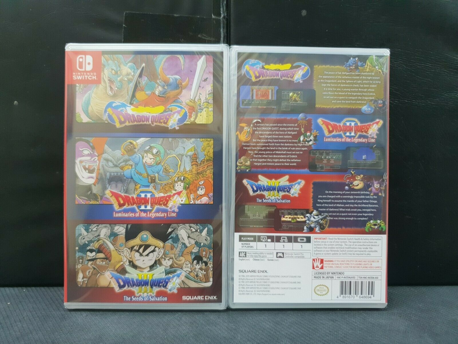 (ASIA ENGLISH VERSION) Nintendo Switch Dragon Quest 1+2+3 Collection (Brand New)