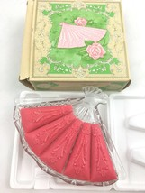 Vintage Avon Hostess Fancy Fan Soap Dish With Soap Set Lot Glass Elegant... - $14.79