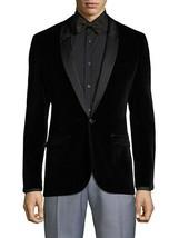HUGO Arti Shawl Collar Velvet Blazer Black 5039384000100-Size 42R - $238.99