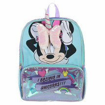 Minnie Mouse 3D Bow And Unicorn Horn Backpack Blue - $28.98