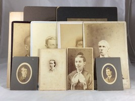 Portrait Photographs Lot Of 11 Different People Examples And Years Vintage - $19.79
