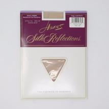 NEW Hanes Silk Reflection Silky Sheer Reinforced Toe Pantyhose Travel Bu... - $4.90
