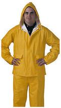 PVC Rainwear .25-Mm Double-ply Suit, Yellow, XL - $27.71