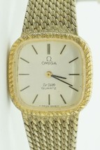 Vintage OMEGA DE VILLE Quartz Watch Push-button Crown .800 Silver Band #... - $207.90