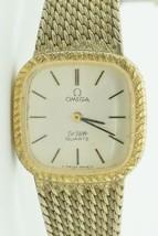 Vintage OMEGA DE VILLE Quartz Watch Push-button Crown .800 Silver Band #... - $207.90