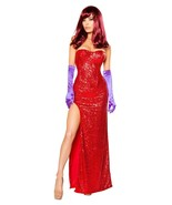 Jessica Rabbit Roger Women's Sexy Lady Red Costume Outfit - $79.00