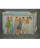 Misses 14-16 Summer Dresses Tops with variations McCalls 5548  Year 1977... - $8.00