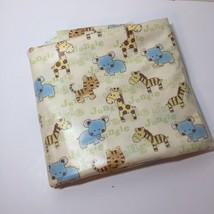 "1.25 Yards PUL Waterproof Fabric 60"" wide JoAnn Fabrics Jungle Baby Animals - $12.59"