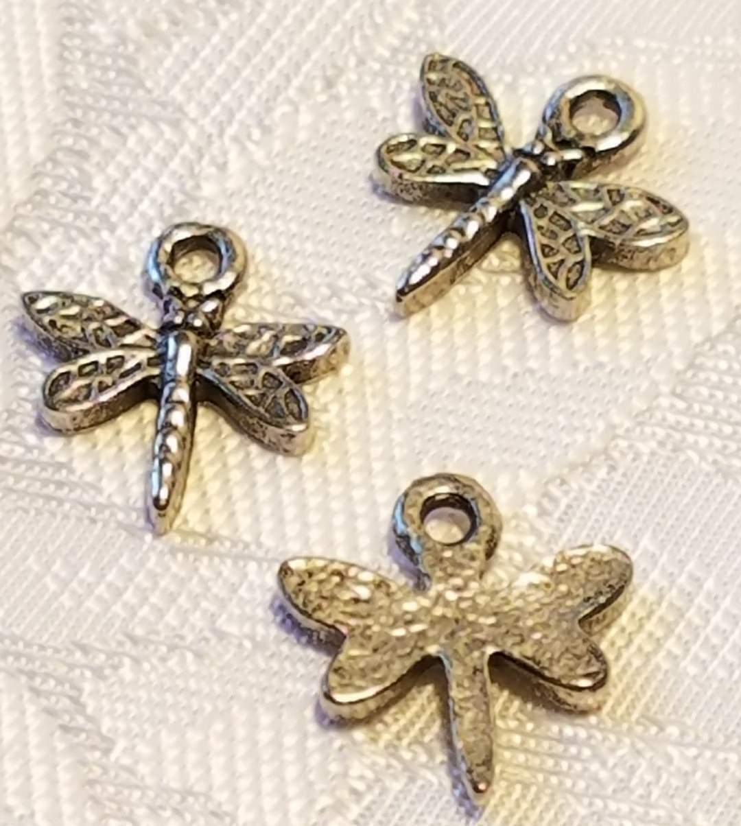 SMALL DRAGONFLY FINE PEWTER CHARM