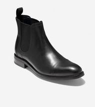 Cole Haan Men Chelsea Boots Conway Black Waterproof Leather C31367 - $92.46