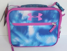 Thermos Under Armour Insulated Lunch Box Bag Tote Blue Purple Girls New K491263 - $27.71