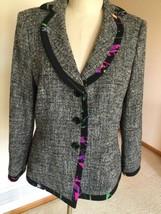 Damen Blazer, Us Größe 12, Grau, Geometrisch, Armani Collezioni - $114.30