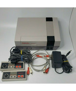 Nintendo NES-001 System Console w/ 2 Controllers power OEM RF switch Bun... - £107.98 GBP