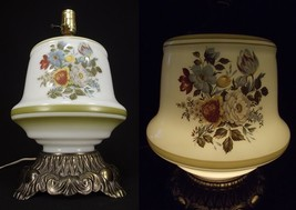 HURRICANE LAMP BASE Vintage GWTW flowers gone with the wind NIGHT LIGHT - $37.04