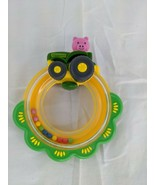"""John Deere Pig Tractor Rattle Ring Toy 5"""" Tomy - $7.95"""