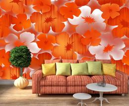 3D Helle rote Blumen 377 Fototapeten Wandbild Bild Tapete Familie Kinder - $51.18+