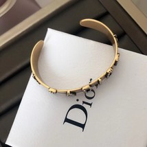 AUTH Christian Dior 2019 J'ADIOR CRYSTAL AGED GOLD BRACELET CUFF BANGLE image 4