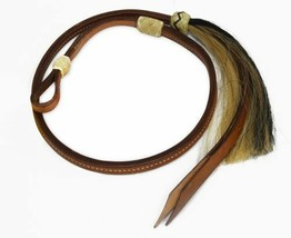 WESTERN HORSE BARREL RACING RACER OVER AND UNDER LEATHER W/ HORSE HAIR T... - $19.60
