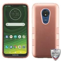 For MOTOROLA Moto G7 Power Rose Gold/Rose Gold TUFF Hybrid Phone Case Cover - $13.39