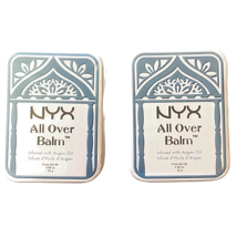 Lot Of 2 NYX Cosmetics All Over Balm Infused with Argan Oil .88 oz - $11.39