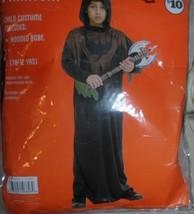 boys phantom costume NWT sz 10-12 hooded robe black w brown - $6.99