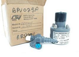 """NEW GRIFFCO BPV025P BACK PRESSURE VALVE, 1/4"""" 0.25 IN., PVC, 0-150PSI, SET: 50"""