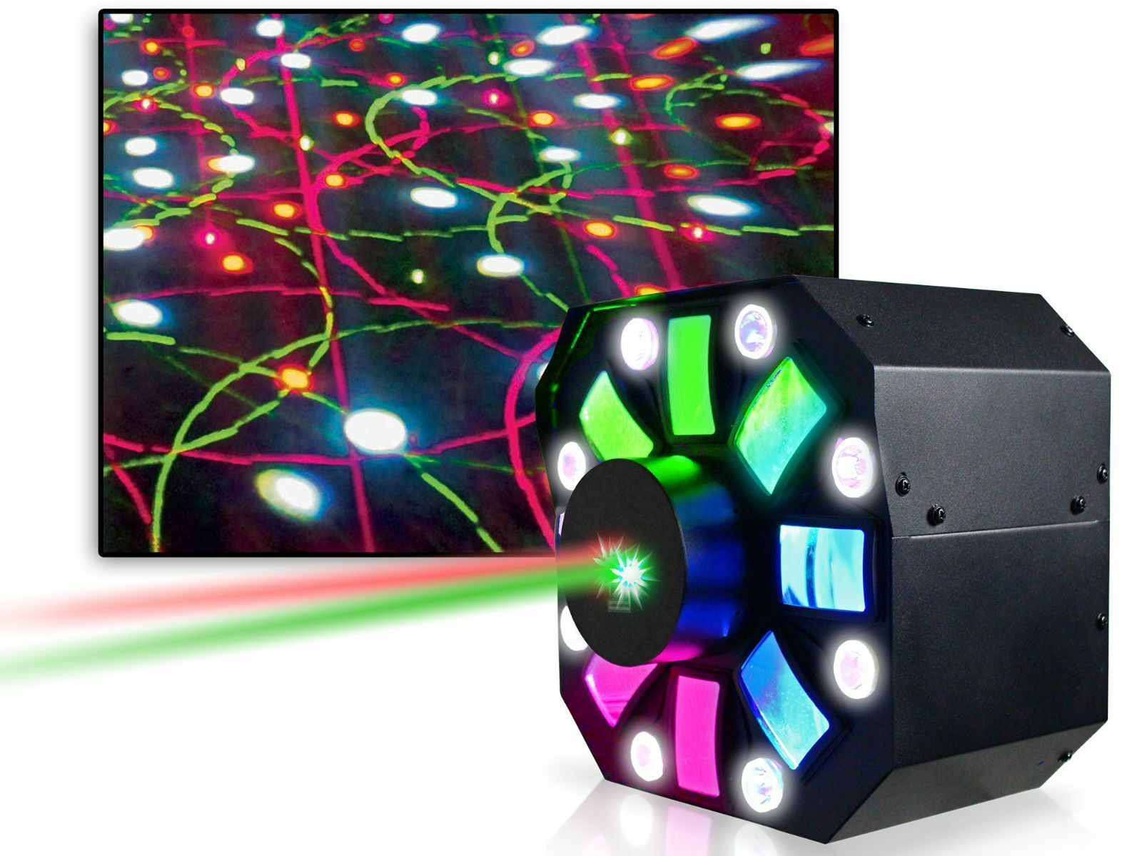 Technical Pro LGMEGAx DJ Multi Pattern Laser & LED Stage Effect Light with DMX