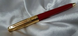 Sheaffer Prelude Red Lacquer Chased Palladium Cap Ball Pen - $78.94