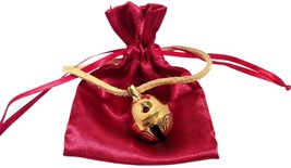 Golden Brass Polar Sleigh Bell #1  Santa's Sleigh Help an Angel Get Its Wings image 2