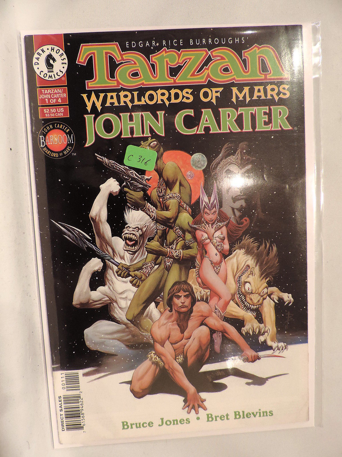 #1 Tarzan John Carter Warlords of Mars 1996 Dark Horse Comics C316
