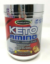Muscletech 100% Keto Plus Ketone + Amino Supplement Tangy Peach - $22.50