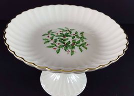 "LENOX China Holiday Dimension Round Compote Pedestal 5"" x 7-1/4"" Dinnerware image 3"