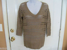 ELLE Natural Open Stitch Sweater Size S Women's NEW - $35.60