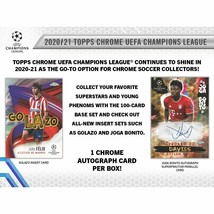 2020-21 Topps UEFA Champions League Chrome Soccer Hobby Box (Presell) 05/05 - $1,127.00
