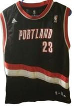 Darius Miles Black Adidas #23 boys XL Portland Blazers Jersey - $37.18
