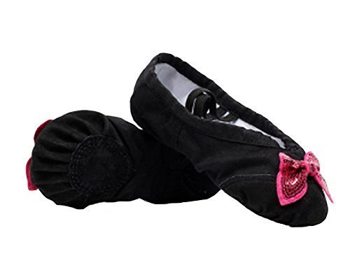 Ballet Shoes/Dance Shoes For Pretty Girl (22.5CM Length) Black Bowknot