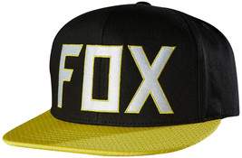 "Fox Men's ""assist"" Snapback Fox Logo Adjustable Hat Cap One Size In Black - $28.86"