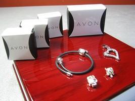Avon Charming Moments STARTER BRACELET & Turtle Swan Owl Charm +Rhinesto... - $19.95